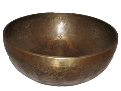 tibeti hangtál óriás big tibetan singing bowl